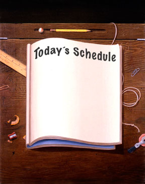 Blank schedule page